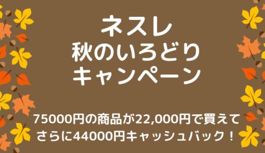 ネスレ 秋のいろどりキャンペーンFinalで高額キャッシュバック+コーヒー75000円分もらえるチャンス