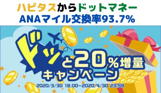 ハピタスANAマイル交換率93.7%【ドッと20%増量!キャンペーン】スタート